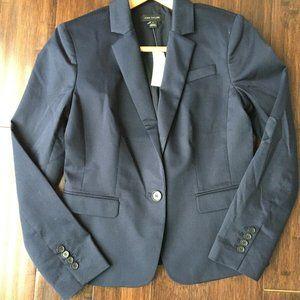 Ann Taylor Navy Blue One Button Blazer 2 NEW
